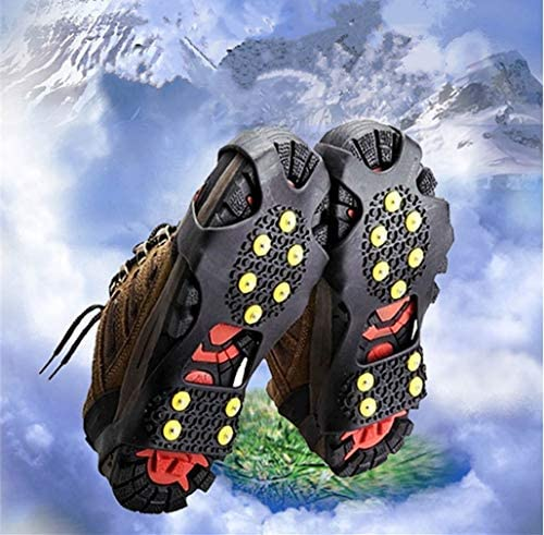 Toasis Ice Grips Snow Spike Crampons Traction Cleats Stud Grippers for Shoe Boot