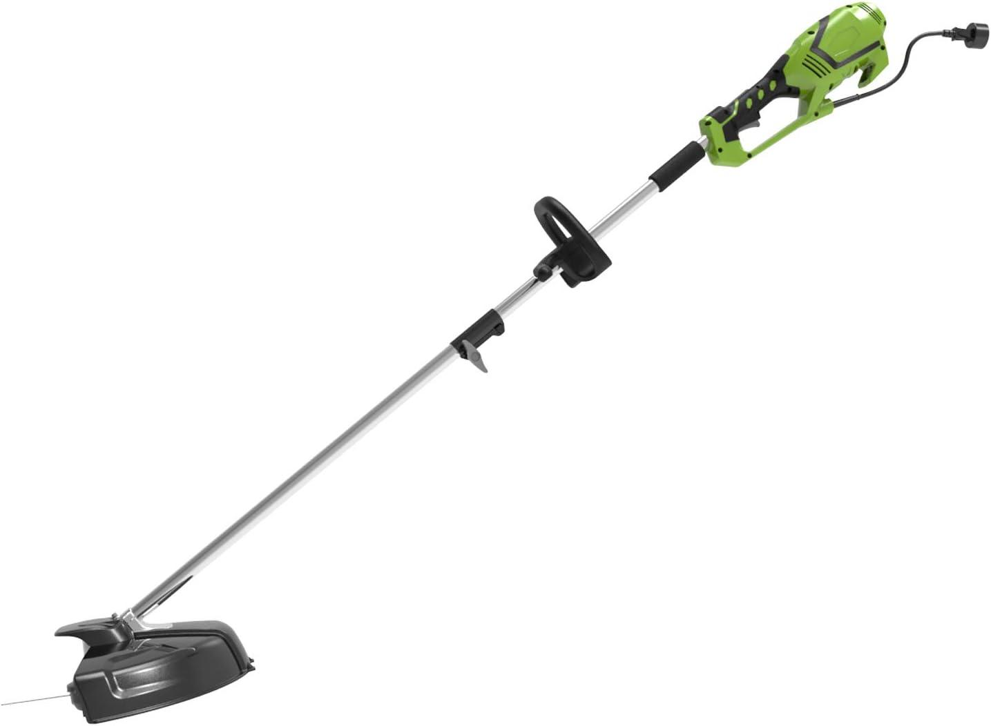 Greenworks Tools 1301807 Desbrozadora y Cortabordes Eléctrico, 1200 W, 230 V, Verde