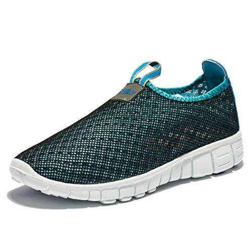 EVILDOER Men & Women's Breathable Mesh Running Sneakers Outdoosr Slip-on Beach Aqua Shoes 10 DM Blue