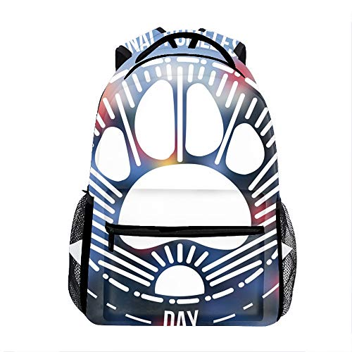 School Backpack Classic Travel Laptop International Homeless Animals Day Backpack Rucksack Middle School Bookbag