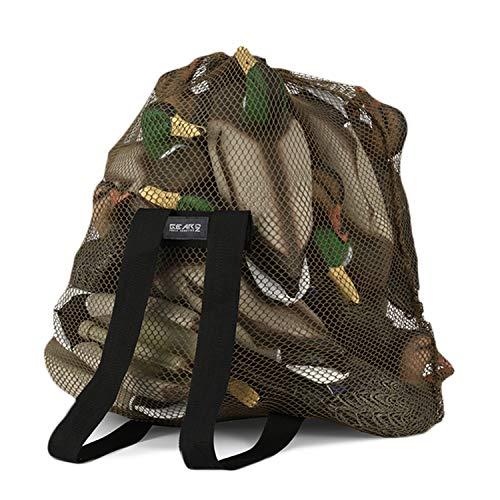 GearOZ Mesh Decoy Bag, Decoy Backpack Light Weight Blind Bag with Adjustable Shoulder Straps for Hunting Waterfowl Duck Turkey Goose
