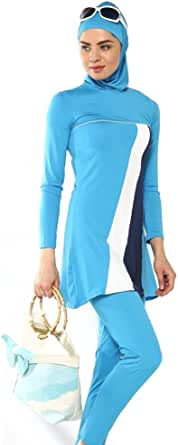 Charming stylish Beach Blue Burqini For Women XL