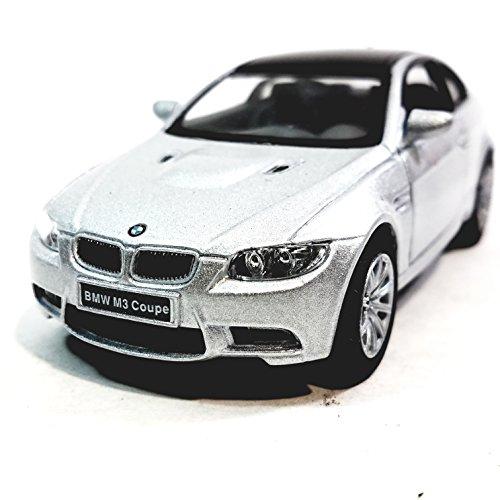Kinsmart BMW Silver M3 Hardtop 2 Door Coupe 1/36 Scale Diecast Car 2 Door Hardtop Coupe