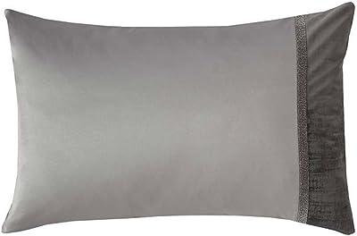 Kylie Minogue Luxury Saturn Velvet One Housewife Pillowcase - Silver Gray - 50 x 75cm (