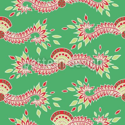 Uneekee Persia Green Shower Curtain: Large Waterproof Luxurious Bathroom Design Woven Fabric by uneekee (Image #2)