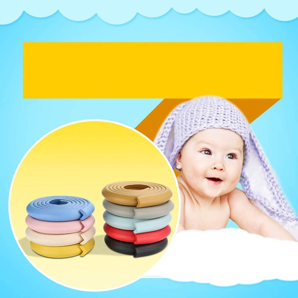 2m Baby Desk Guard Rubber Table Protection Kids L Shaped Soft Edge VIccoo Safety Corner Gray