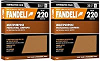 "Fandeli 36027 220 Grit Multipurpose Sandpaper Sheets, 9"" x 11"""