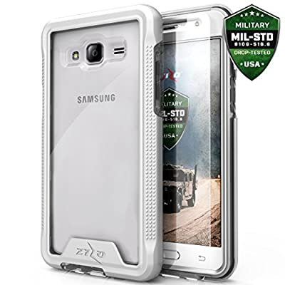 Samsung Amp Prime Case, Samsung Galaxy J3 Case Zizo [ION Series] w/ FREE [Amp Prime Screen Protector] Clear [Military Grade] for Samsung Express Prime