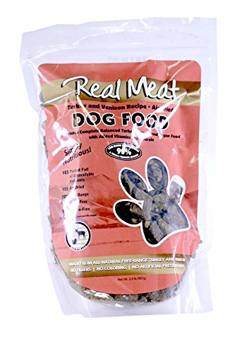 Real Meat Company Air Dried Turkey & Venison Dog Food, 2-lb (Real Turkey)