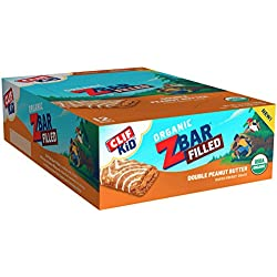 CLIF KID ZBAR FILLED - Organic Energy Bar - Double Peanut Butter - (1.06 Ounce Snack Bar, 12 Count)