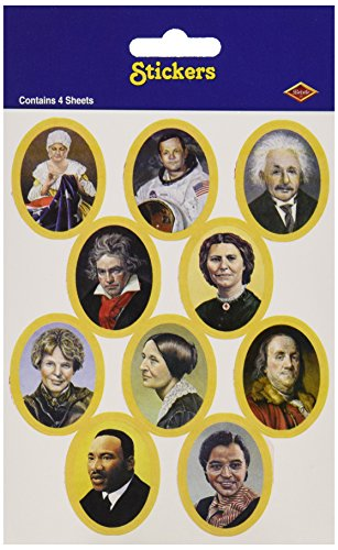 Faces In History Stickers   (4 Shs/Pkg)