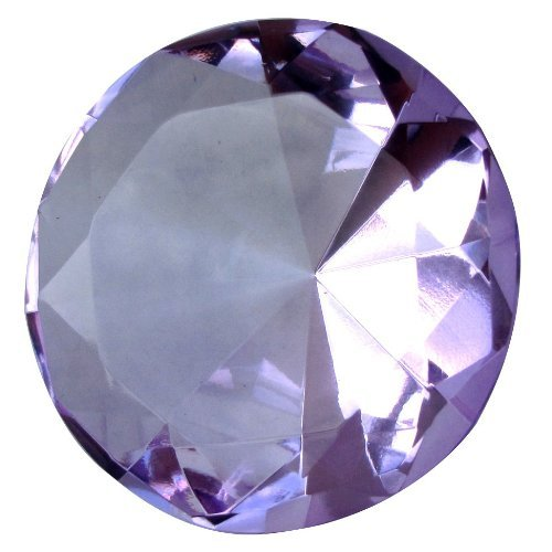 Giant Purple 60 Mm Cut Glass Diamond Jewel Paperweight by Unknown (Online Costume Jewelry Stores)