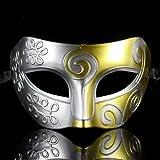 Retro Roman gladiator Halloween party masks man woman children Mardi Gras Masquerade mask- silver & gold