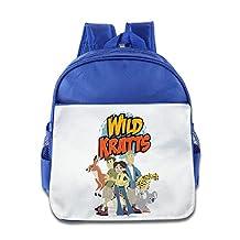 Duola Wild Kratt Child Cartoon School Bag RoyalBlue