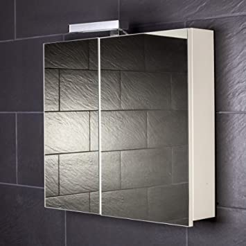 Spiegelschrank holz weiß  Galdem START70 Spiegelschrank, holz, 70 x 70 x 15 cm, weiß: Amazon ...