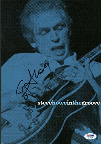 Steve Howe Signed Autographed In The Groove Song Book PSA/DNA