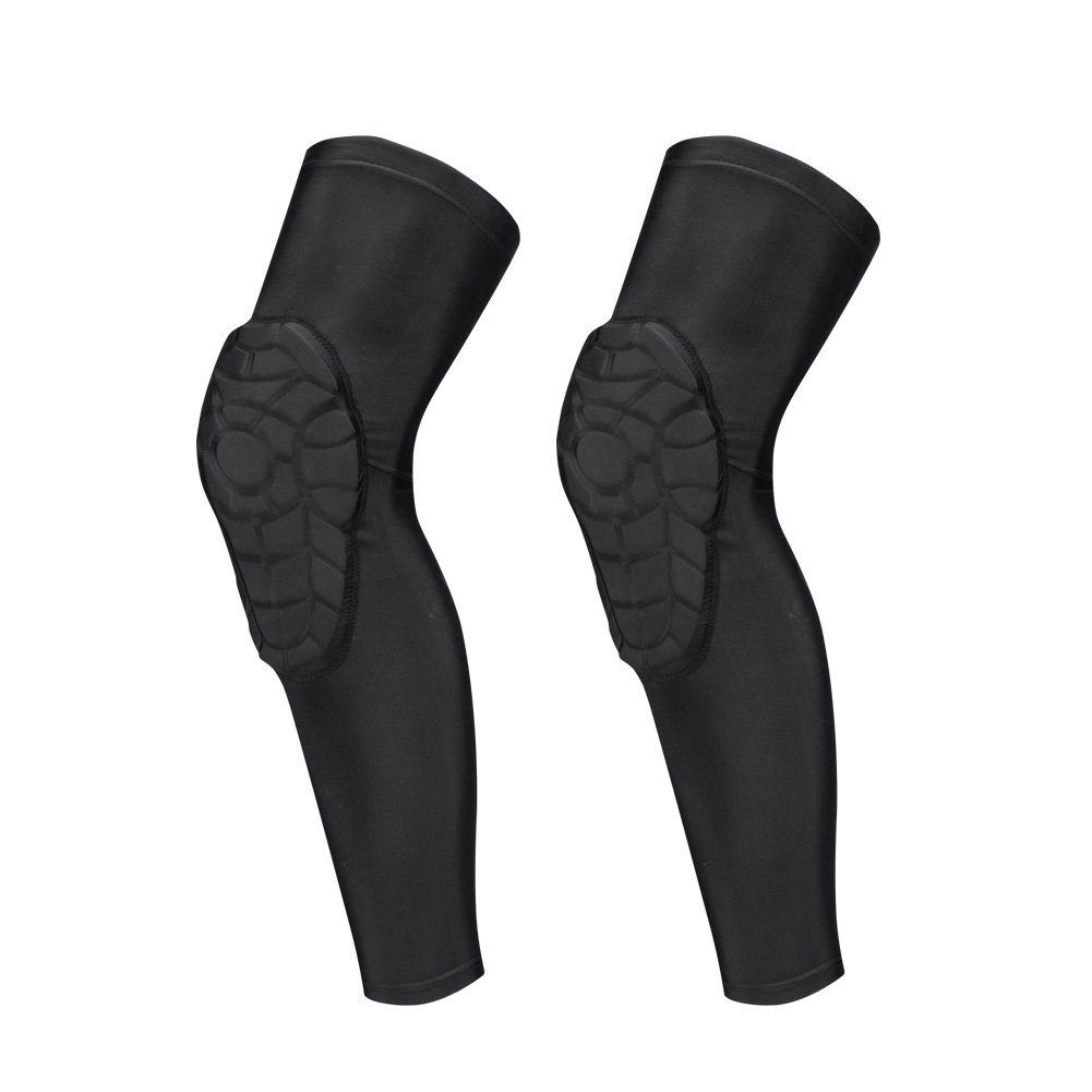 DGXINJUN Youth Boy's Padded Knee Pads Compression Knee Sleeve Protector for Football Volleyball Cycling