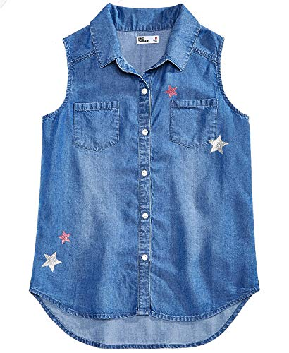 Epic Threads Big Girls Button-Front Denim Shirt -