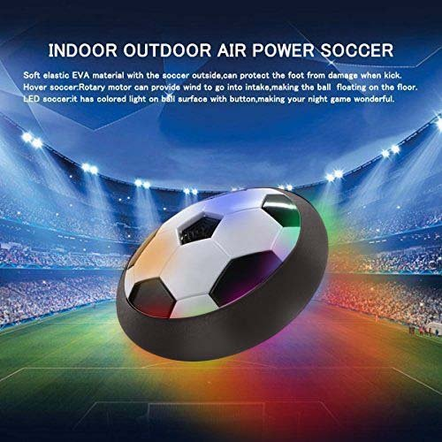 LilPals Air Hover Soccer Ball with Foam Bumpers and Powerful LED Lights for Indoor or Outdoor Use