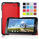 Acer Iconia Talk S Case, IVSO® Acer Iconia Talk S A1-724 Case - Ultra-Slim and Ultra-light High Quality PU Leather Folio Case Stand Cover for Acer Iconia Talk S A1-724 Tablet (Red)