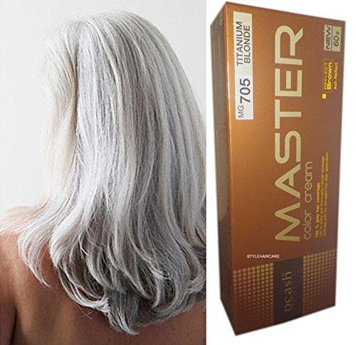 Hair Color Permanent Hair Dye Punk Goth Emo Elf Silver Titanium Blonde Mg705 Shipping Fast
