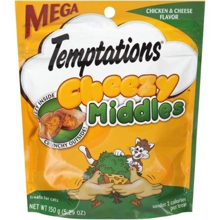 Image of Temptations Cheezy Middles Chicken & Cheese Flavor Treats for Cats 5.29 oz. Pouch