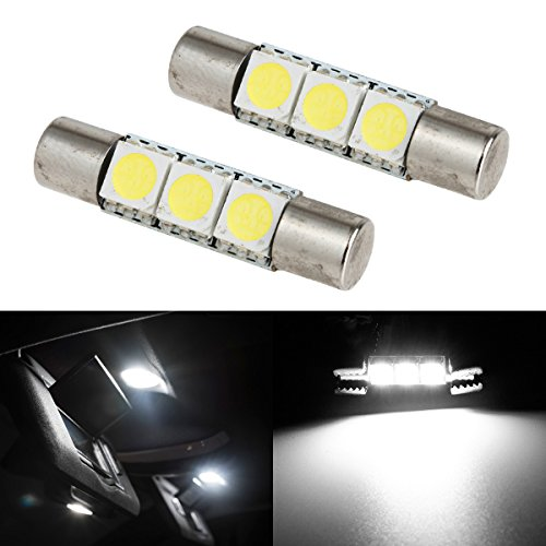 Partsam White 3-SMD LED Vanity Mirror Lights 6641 (Mazda Mx6 Mirror)