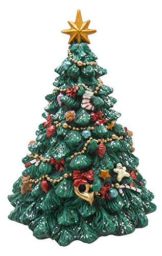 MusicBox Kingdom Decorated Christmas Tree Decorative - Figurine Christmas Tree Decorated
