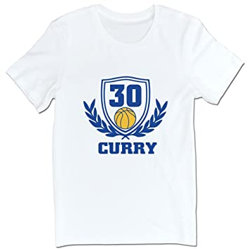 100% algodón 2015 NBA Champions Golden State baloncesto equipo Stephen Curry # 30 camisetas blanco