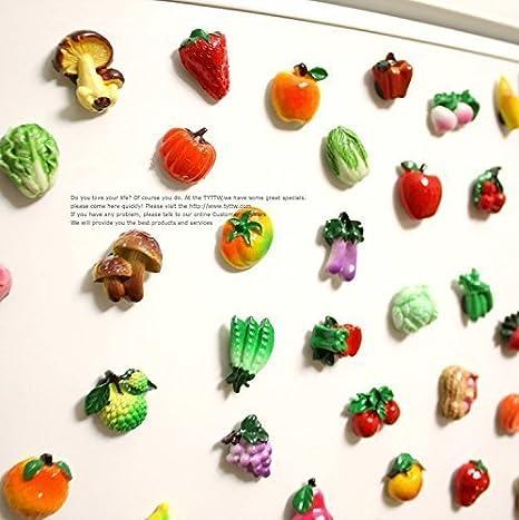 Miss. AJ 10 pcs imanes de nevera pegatinas de frutas hortalizas ...