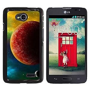 PC/Aluminum Funda Carcasa protectora para LG Optimus L70 / LS620 / D325 / MS323 The Red Planet / JUSTGO PHONE PROTECTOR