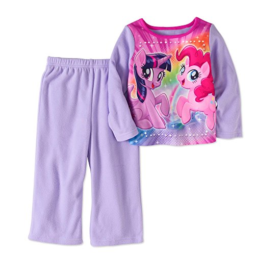 AME Inc Toddler Girls My Little Pony Movie Purple Fleece Pajama Set (3T)