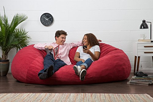 Big Joe Xl Fuf Foam Filled Bean Bag Chair Comfort Suede