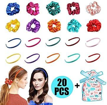 Diademas Niñas Diademas de Pelo 10 Piezas, para Diadema de Satén Accesorios de Peinado de Niñas Cinta Cubierta de 10 mm