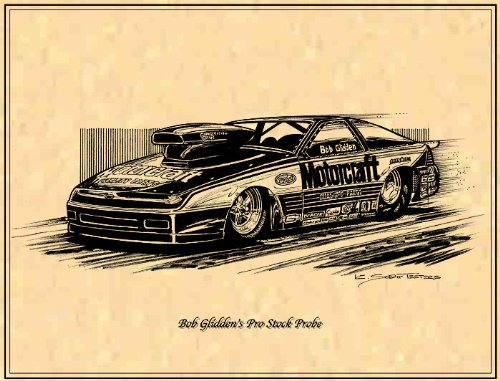 Bob Glidden's Pro Stock Ford Probe Drag Racer