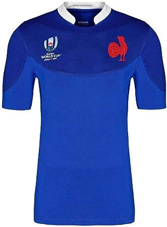 Pavilion 2019 Copa del Mundo de Rugby Francia Inicio Fútbol Ropa Camisetas del Jersey S-3XL (Color : Blue, Size : S): Amazon.es: Hogar
