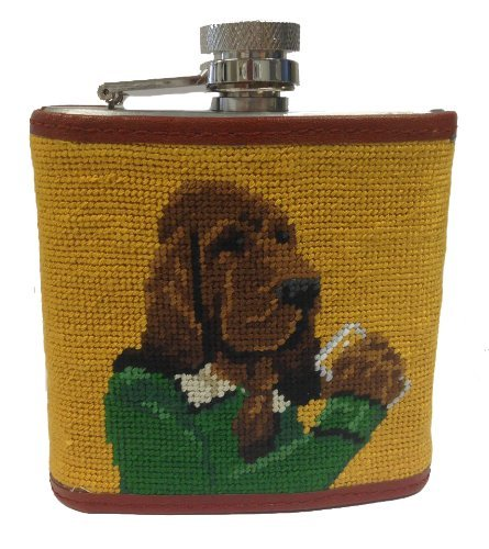 Smathers & Branson Booze Hound Needlepoint Flask (Needlepoint Flask)