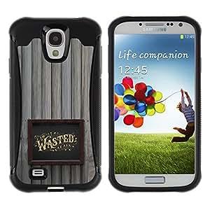 Suave TPU GEL Carcasa Funda Silicona Blando Estuche Caso de protección (para) Samsung Galaxy S4 IV I9500 / CECELL Phone case / / Wasted Drunk Alcohol Gold Frame /