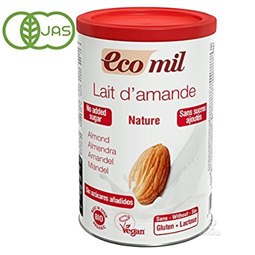 EcoMil organic almond milk straight 400g powder no sugar