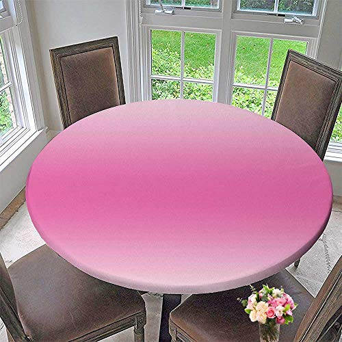 Pink Tornados Art - Mikihome Round Premium Table Cloth Cotton Candy Inspired Girly Design Room Decorations Digital Modern Art Print Pink Perfect for Indoor, Outdoor 31.5