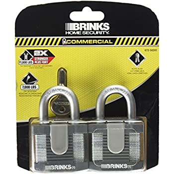 Brinks 672-50201 Commercial 50mm Laminated Steel Lock, 2-Pack