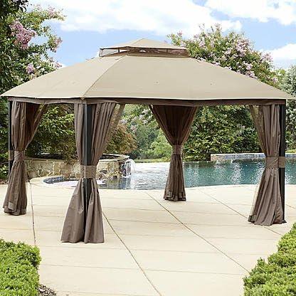 Jardín Oasis cortina de repuesto para privacidad Gazebo: Amazon.es ...