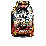 Muscletech Mezcla de Proteínas y Aminoácidos Nitro-Tech Whey Gold, Double Rich Chocolate, 5.53 lb