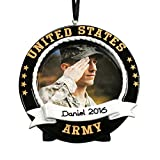 GiftsForYouNow US Army Photo Frame Personalized Ornament, Resin, 3.5'' x 3.5''