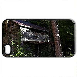 Abandoned House - Case Cover for iPhone 4 and 4s (Houses Series, Watercolor style, Black)