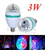 Wonderpark - RGB Full Color Rotating Disco Ball - 3W Mini LED Dj Lights - Color Changing Crystal Effect Lights - For Xmas Home Dance Party Ballroom Club Pub Bar Stage