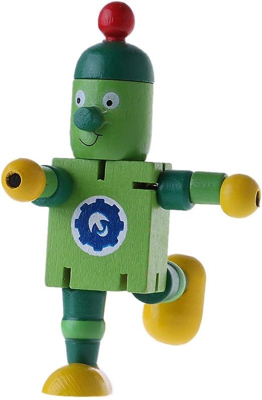 JERKKY 6 Estilos Lindo Bloque Robot de Madera Juguetes Figuras de ...