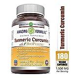 Amazing Formulas Turmeric Curcumin BioPerine 1500 Mg Per Serving Veggie Capsules (180 Veggie Capsules) - -Powerful Antioxidant & AntiInflammatory Properties.