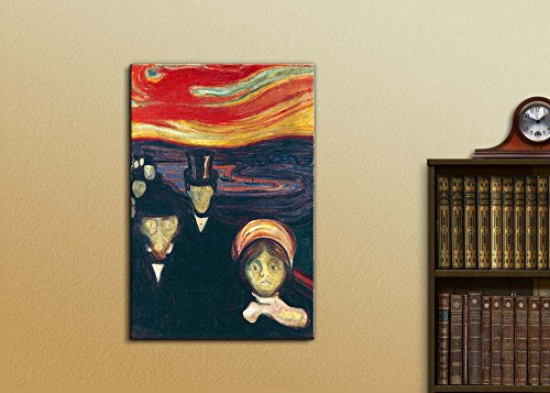 Anxiety by Edvard Munch Print Famous Painting Reproduction