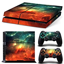 Ps4 Playstation 4 Console Skin Decal Sticker Sky Galaxy + 2 Controller Skins Set